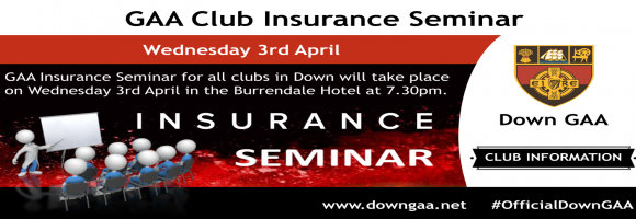GAA Club Insurance Seminar - Wed 3rd April